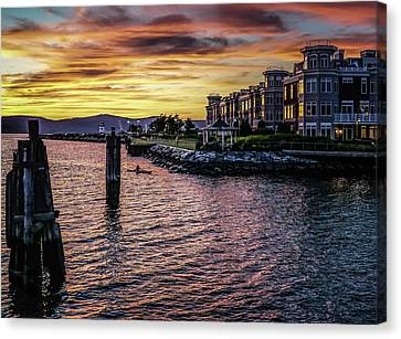 Dramatic Hudson River Sunset Canvas Print