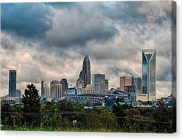 Dramatic Sky And Clouds Over Charlotte North Carolina Canvas Print by Alex Grichenko