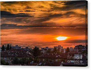 Dramatic Sunset Over Sofia Canvas Print by Jivko Nakev