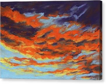 Dramatic Sunset - Sky And Clouds Collection Canvas Print by Anastasiya Malakhova
