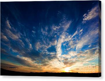 Dramatic Sunset Sky Over Tuscany Hills Canvas Print by Michal Bednarek