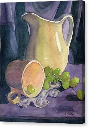 Drapes And Grapes Canvas Print by Lynne Reichhart