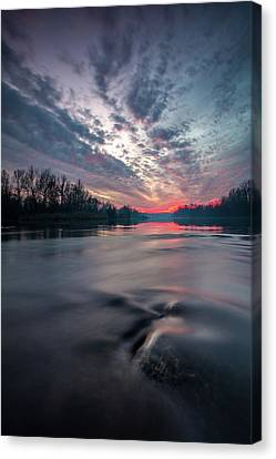 Canvas Print featuring the photograph Drava by Davorin Mance