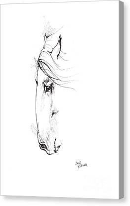 Drawing Of A Horse 2017 02 07 Canvas Print by Angel Tarantella