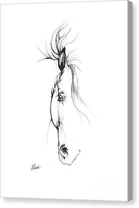 Drawing Of A Horse 2017 02 08 Canvas Print by Angel Tarantella