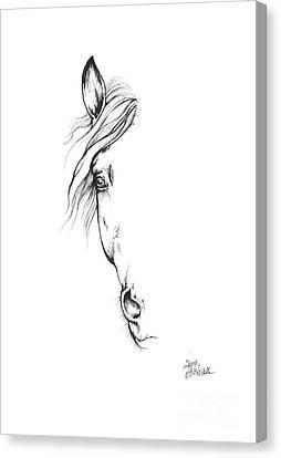 Drawing Of A Horse 2017 02 09 Canvas Print by Angel Tarantella