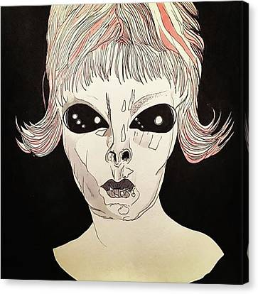 Canvas Print - She Came From Planet Claire by Russell Boyle