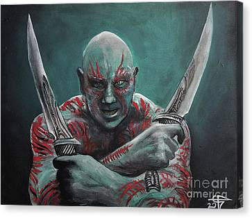 Drax The Destroyer Canvas Print by Tom Carlton