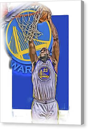 Draymond Green Golden State Warriors Oil Art Canvas Print by Joe Hamilton