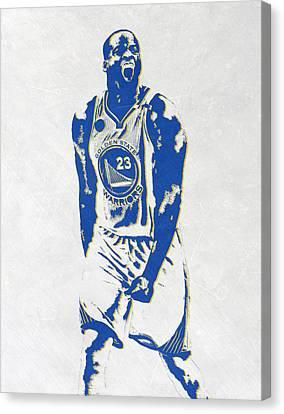 Nba Canvas Print - Draymond Green Golden State Warriors Pixel Art by Joe Hamilton