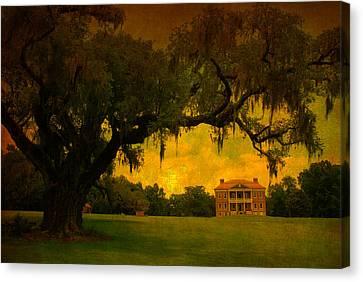 Drayton Hall Plantation In Charleston Canvas Print by Susanne Van Hulst