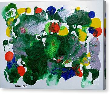 Dream 2 By Taikan Canvas Print by Taikan Nishimoto