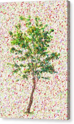 Seurat Canvas Print - Dream Argument by Taylan Apukovska