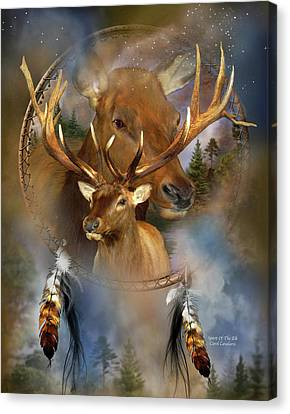 Catcher Canvas Print - Dream Catcher - Spirit Of The Elk by Carol Cavalaris