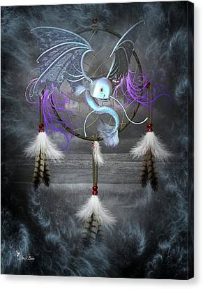 Dream Catcher Dragon Fish Canvas Print