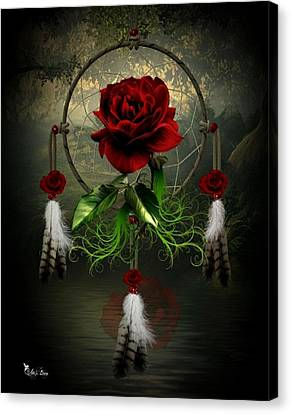 Dream Catcher Rose Canvas Print