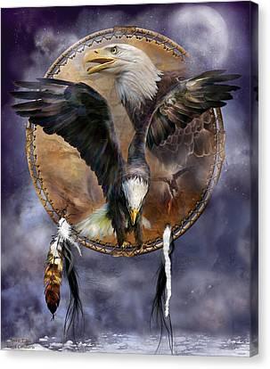Dream Catcher - Spirit Eagle 3 Canvas Print
