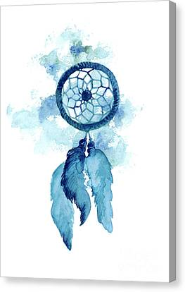 Dream Catcher Watercolor Art Print Painting Canvas Print by Joanna Szmerdt