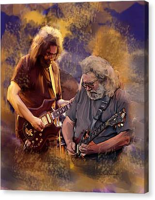 Canvas Print featuring the painting Dream Colors  Jerry Garcia Greatful Dead by Iconic Images Art Gallery David Pucciarelli