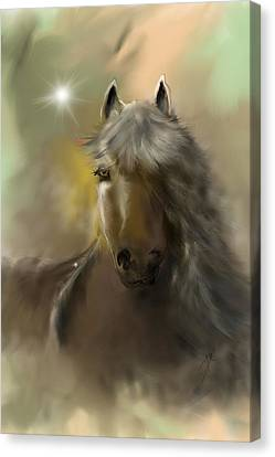 Canvas Print featuring the digital art Dream Horse by Darren Cannell
