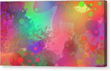 Dream In Abstract - Pointillist Digital Painting Canvas Print
