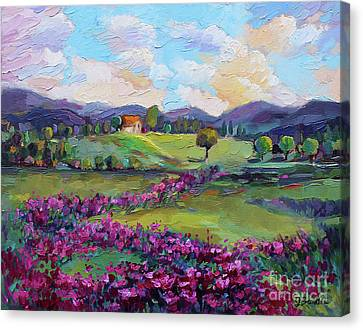 Canvas Print featuring the painting Dream In Color by Jennifer Beaudet