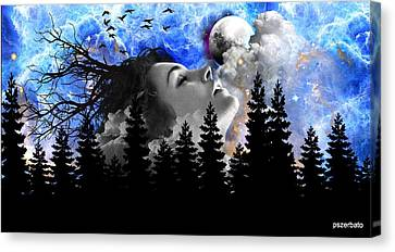 Freud Canvas Print - Dream Is The Space To Fly Farther by Paulo Zerbato
