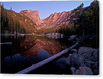 Canvas Print featuring the photograph Dream Lake by Gary Lengyel