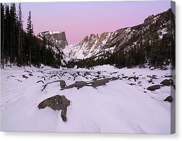 Canvas Print featuring the photograph Dream Lake - Pre Dawn by Aaron Spong