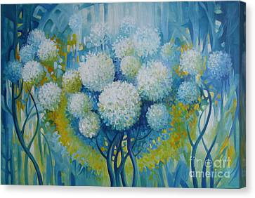Canvas Print featuring the painting Dream Land by Elena Oleniuc