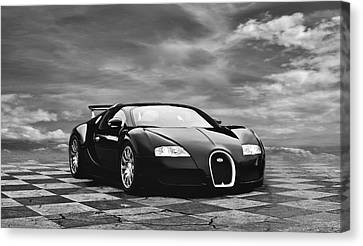 Horsepower Canvas Print - Dream Machine Bw by Peter Chilelli