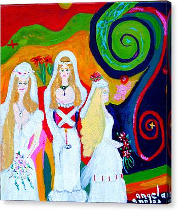 Dream Of A Jungian Marriage Canvas Print by Angela Annas