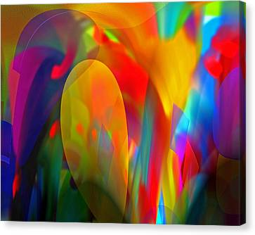 Canvas Print featuring the digital art Dream Of Red by Lynda Lehmann