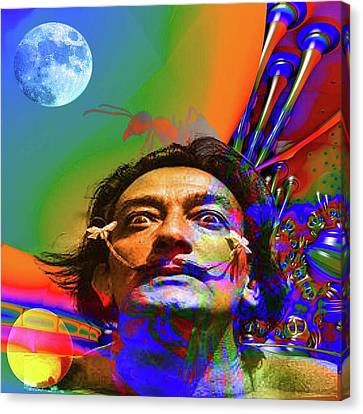 Dream Of Salvador Dali Canvas Print by Matthew Lacey