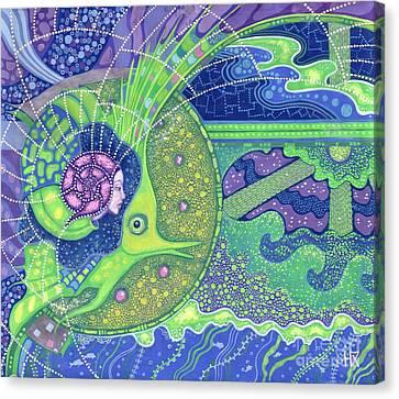 Inner Self Canvas Print - Dream Of The Fullmoon by Julia Khoroshikh