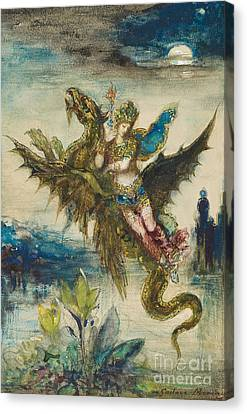 Dream Of The Orient Or The Peri Canvas Print by Gustave Moreau