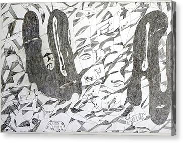 Gond Canvas Print - Dream by Rajendra Yadav