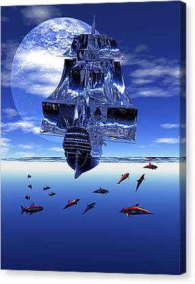 Canvas Print featuring the digital art Dream Sea Voyager by Claude McCoy