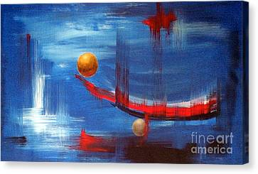 Canvas Print featuring the painting Dream Ship by Arturas Slapsys