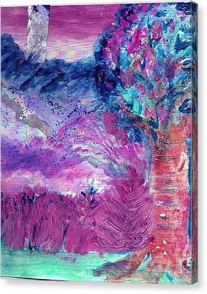 Dream Tree In Sugarland Canvas Print by Anne-Elizabeth Whiteway