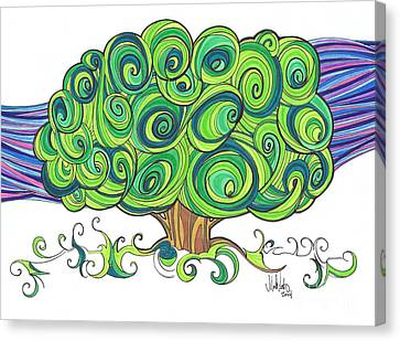 Canvas Print featuring the painting Dream Tree by Michael Ciccotello