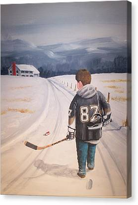 Dream Walking - The Kid Canvas Print by Ron  Genest