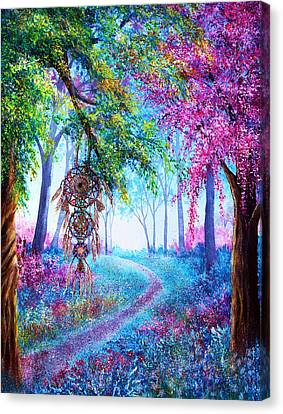 Dreamcatcher Canvas Print by Ann Marie Bone