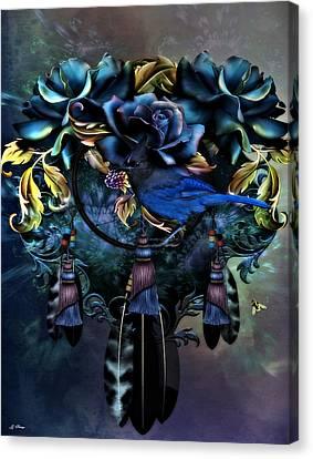 Dreamcatcher Blues 02 Canvas Print by G Berry