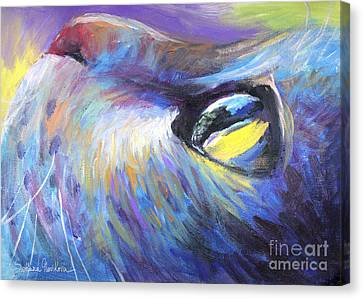 Dreamer Tubby Cat Painting Canvas Print