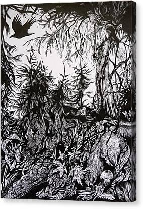 Dreaming Alaska.part One Canvas Print by Anna  Duyunova