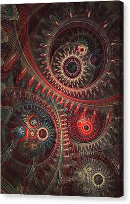 Dreaming Clocksmith Canvas Print