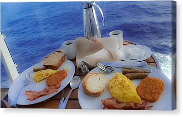 Canvas Print featuring the photograph Dreaming Of Breakfast At Sea by DigiArt Diaries by Vicky B Fuller