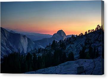 Canvas Print featuring the photograph Dreaming Of Climbing Half Dome by Peter Thoeny