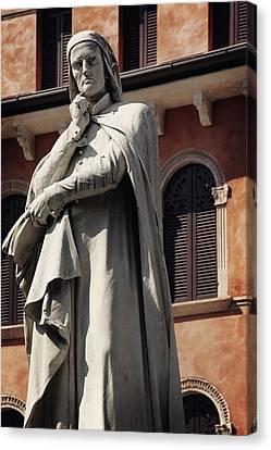Dreaming Of Dante Verona Italy Canvas Print